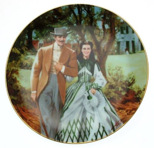 (Collector Plate - Gone with the Wind - Golden Anniversary Series Plate #5 - Home To Tara)