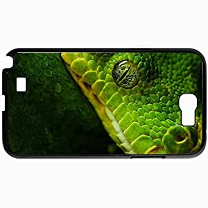 Personalized Protective Hardshell Back Hardcover For Samsung Note 2, Green Death Design In Black Case Color
