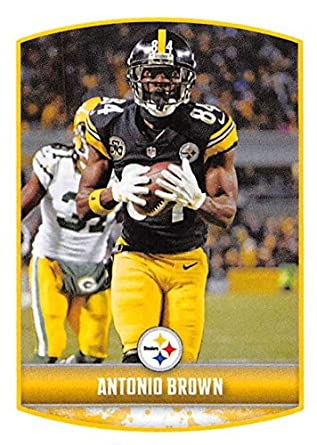 65ba54fec0a 2018 Panini NFL Stickers Collection  117 Antonio Brown Pittsburgh Steelers  Official Football Sticker
