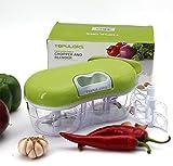 Topulors Hot Sale Manual Food Chopper Hand-Powered Food Chopper Compact Handheld Onion Chopper, Garlic Squeezer, Ginger Slicer, Pepper Cut, Herbs Chop, Cheeses Chopper Masher (twins chopper)