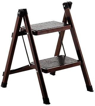 Escalera de cocina Hogar Escalera plegable Taburete Escalera Multifunción Escalera colgante Pequeño paso Taburete de caballo Escalera de dos pasos (Color : Brown): Amazon.es: Bricolaje y herramientas