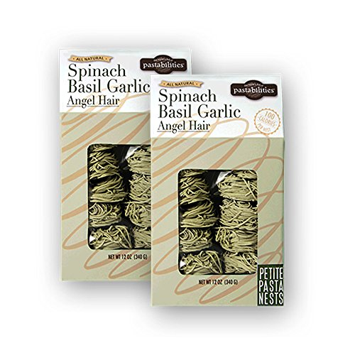 Pastabilities Spinach Basil Garlic Nests, 12 oz. (Pack of 2)