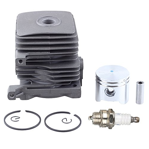 Harbot 34mm Cylinder Piston Kits with Spark Plug for Stihl FS55 FS45 BR45 HL45 HS45 HS55 KM55 Trimmer BG85 BG55 BG45 BG46 BG65 Blower 4140-020-1202