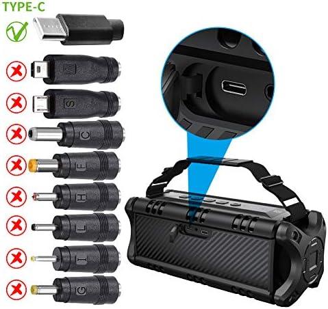 50W(70W Peak) Wireless Bluetooth Speakers Built-in 8000mAh Battery Power Bank, W-KING Outdoor Portable Waterproof TWS, DSP, NFC Speaker, Powerful Rich Bass Loud Stereo Sound 516xtaQntrL