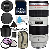 Canon EF 70-200mm f/2.8L USM Telephoto Zoom Lens Bundle for Canon SLR Digital Cameras Intl Model - Pro