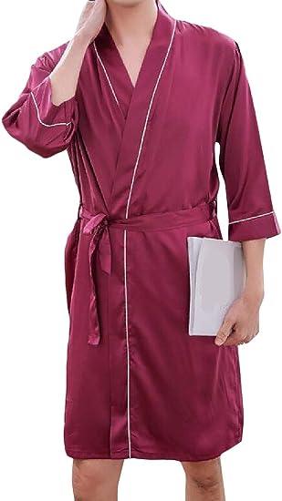 Joe Wenko Mens Spa Shawl Collar Turkish Flannel Warm Waffle Bathing Sleepwear Robes