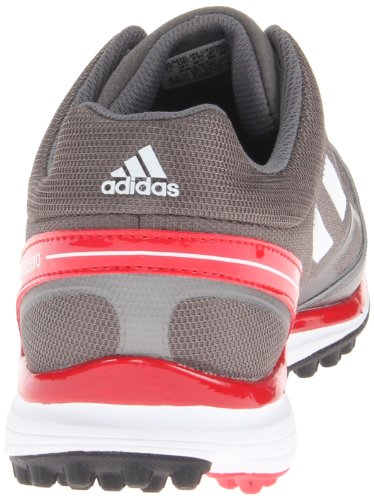 adidas Mens adizero Sport II Golf Shoe Dark Silver Metallic/White/Red pMzlFti6z1