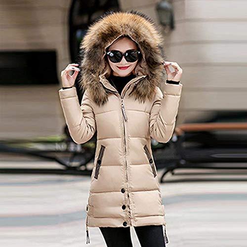 Manica Fit Trapuntata Plus Piumino Addensare Donna Slim Lunga Cappotti Fashion Invernali Costume Incappucciato Eleganti Caldo Khaki Prodotto Piumini Giacca A xwtYqCZSw