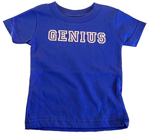 Custom Kingdom Boys Genius T-shirt (6 Months, Royal Blue)