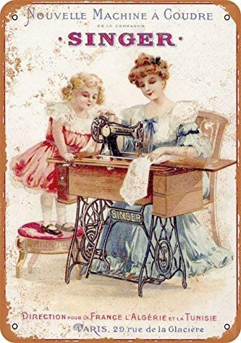 Kilburn 1889 French Singer Sewing Machines Retro Creative Wall ...