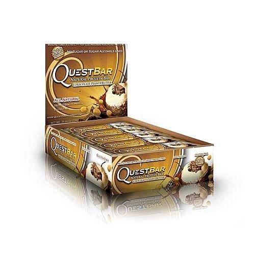 Quête Bar Chocolate Peanut Butter - 2pack (Boîte de 12, 25,44 oz chacun)