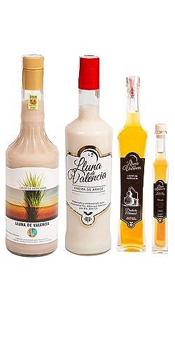 Pack Valenciano Licor Horchata, Crema Arroz, Naranja, Moscatel
