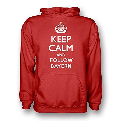 Keep Calm And Follow Bayern Munich Hoody (red) B077ZSS39WRed XL (45-48\
