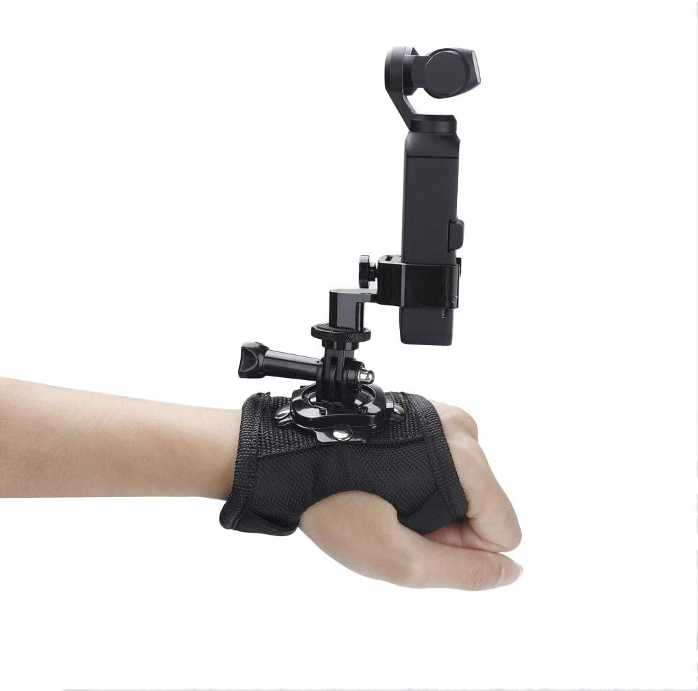 360 Degree Rotation Wrist Palm Strap Fixed Adapter Holder Compatible with DJI Osmo Pocket Gimbal for GoPro Sport Action Camera Gimbal Accessories HUAYE