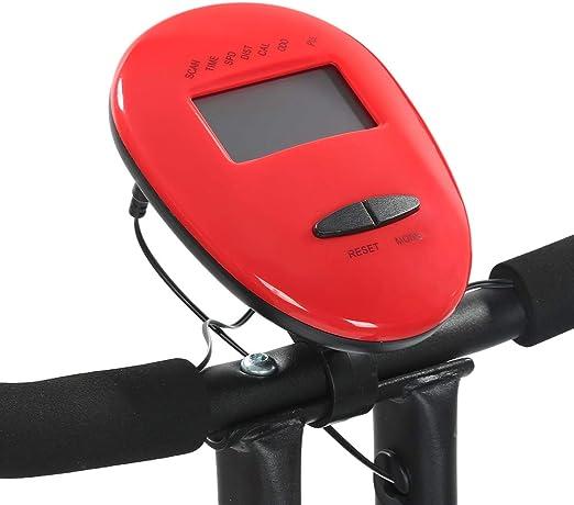 Webbing Capteur de Fr/équence Cardiaque Noir-Rouge//Frein /à Sangle, 113x78x41cm Silencieux Exercice Bike avec Affichage /à LED Ergonomie 8 Niveaux de R/ésistance MUPAI V/élo Dappartements Pliable