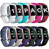Ouwegaga Compatible for Fitbit Charge 3/SE Bands Water Resistant Fitness Wristbands Combo
