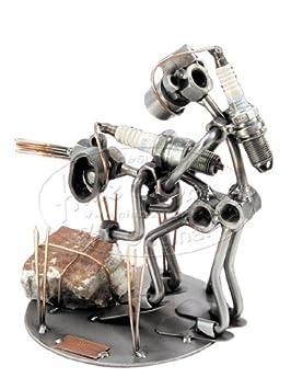 Diseño de amor de buceo de soldadura de tornillos de metal de diseño de fango y arte: Amazon.es: Hogar