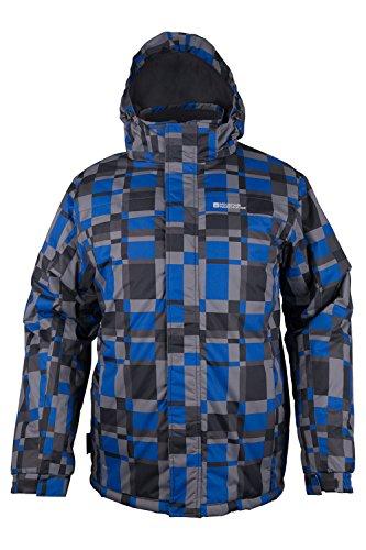 Mountain Warehouse Shadow Mens Printed Ski Jacket Blue X-Large