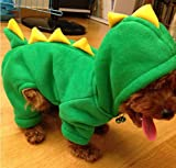 HSE Super cute dinosaur burst Meng installed new winter pet clothes, dog clothes, dog turned legs fitted,M