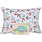 Little Sleepy Head Toddler Pillowcase - Cuddle Collection (anchors Away), White/Blue, 13  X 18