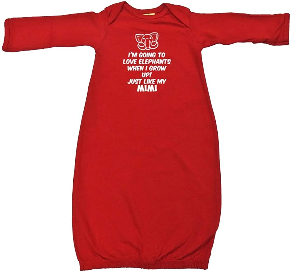 Im Going to Love Elephants When I Grow Up Just Like My Mimi Toddler//Kids Long Sleeve T-Shirt