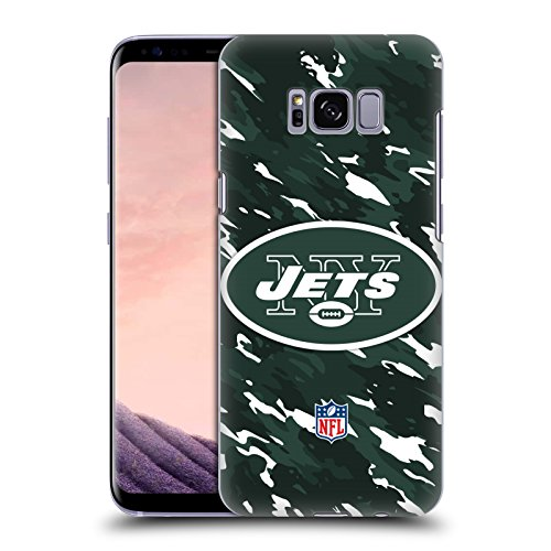 Official NFL Camou New York Jets Logo Hard Back Case for Samsung Galaxy S8 by Head Case Designs