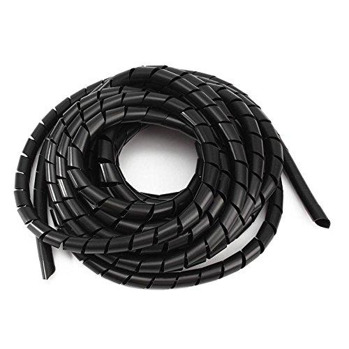 Semoic 12 mm Nero avvolgimento a spirale involucri di cavi Manicotti di avvolgimento Nastro avvolgitore