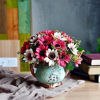 Flores de seda artificiales de estilo europeo sala de estar ...