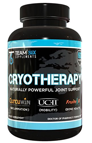T6 Cryotherapy - Natural Joint Health Support Supplement, Anti-Inflammatory Pain Relief for Cartilage and Bone Strength with Boswellia Extract, Type 2 Collagen and Curcumin (with) Bioperine, 60 Vcaps