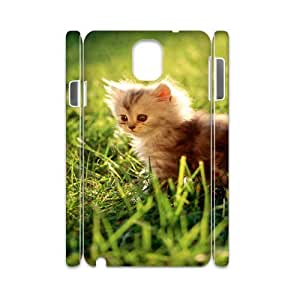 3D Okaycosama Funny Samsung Galaxy Note 3 Case Cute Cat Featured for Women, Case for Samsung Galaxy Note 3 N9005, [White]