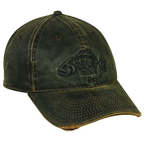 Outdoor Cap Cotton Visor (Outdoor Cap Adjustable Closure Bonefish Weathered Cotton Cap, Dark Brown)