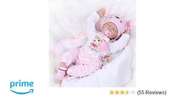 ae770f3b3151 Amazon.com  OCSDOLL Reborn Baby Dolls 22