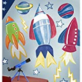 Rocket Space Big Vinyl Mural Wall Stickers