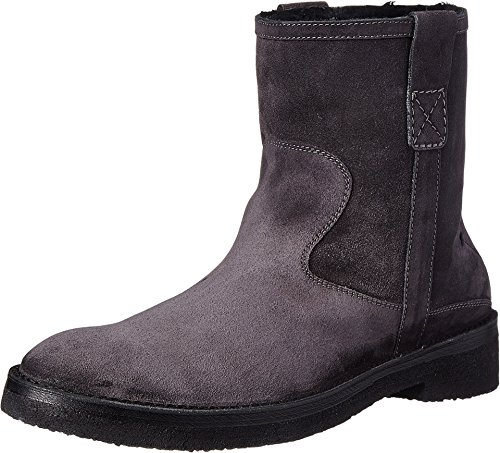 CoSTUME NATIONAL Men's Suede Boot Asphalt UK 10 D - (Mens Costume Boots Uk)