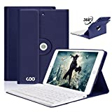 iPad Mini Keyboard Case,COO iPad Mini Case with Wireless Detachable Bluetooth Keyboard with 360 Degree Rotation and Apple Sleep/Wake Cover for Apple Mini 1/2/3(Dark Blue)