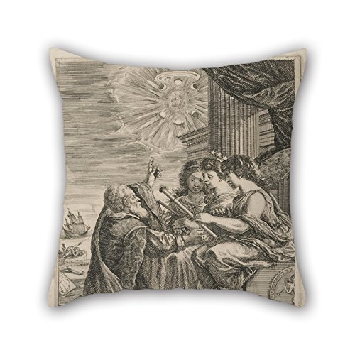 Artistdecor Throw Cushion Covers 18 X 18 Inches / 45 By 45 Cm(two Sides) Nice Choice For Car Teens Boys Dinning Room Kids Kids Boys Gf Oil Painting Stefano Della Bella - Frontispiece For Opere De Ga ()