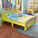 Costzon Toddler Bed, Cute Lion Themed Wooden Bed Frame w/Safety...