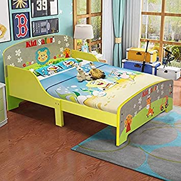 Amazon.com : Costzon Toddler Bed, Cute Lion Themed Wooden Bed Frame ...