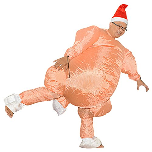Adult inflatable Costume Turkey Chicken Inflatable Suit Fancy Dress Party (Fancy Dress Chicken)