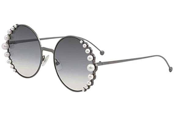 5dec14b6c15c Amazon.com  Fendi Women s Round Pearl Frame Sunglasses