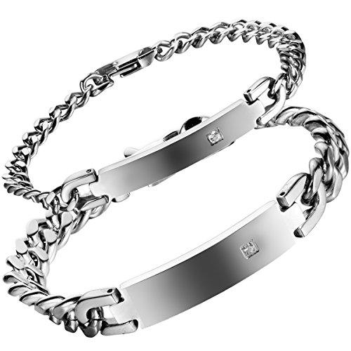 Flongo Elegant Stainless Bracelet Valentine product image