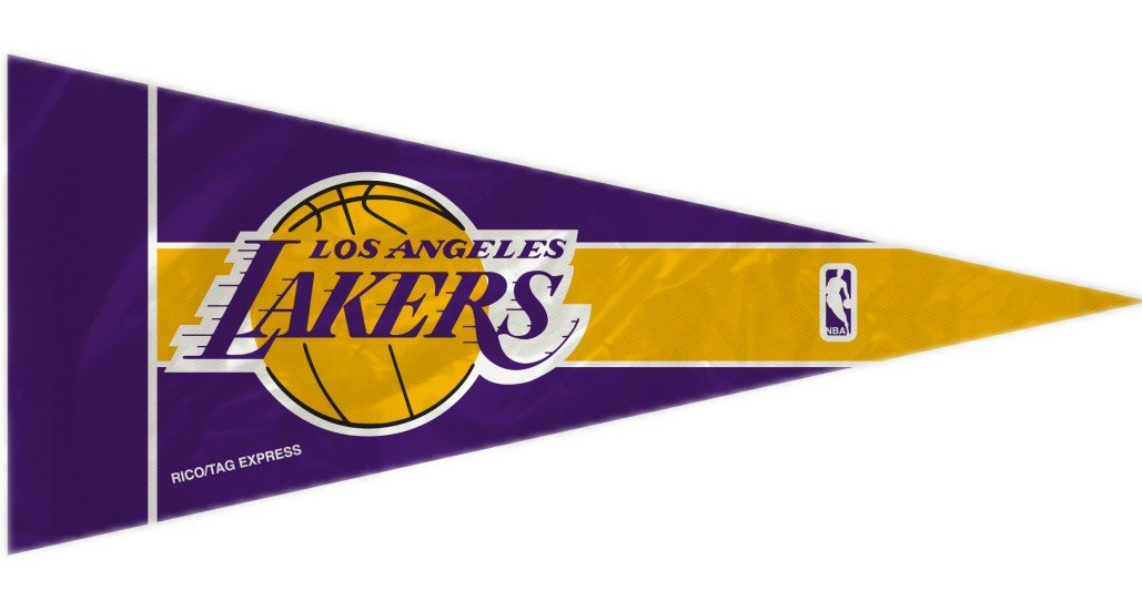 Rico NBA Lakers 8 Pc Mini Pennant Pack Sports Fan Home Decor, Multicolor, One Size