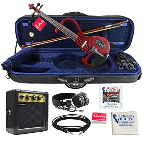 Bunnel EDGE Clearance Electric Violin Outfit Rock Star Red Amp...