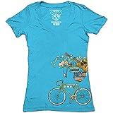 Clockwork Gears Women's Perfect Balance Cycling T-Shirt, Blue, Medium