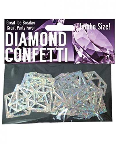 Hott Products Diamond Mylar Confetti, Glitter Silver, 1 Ounce