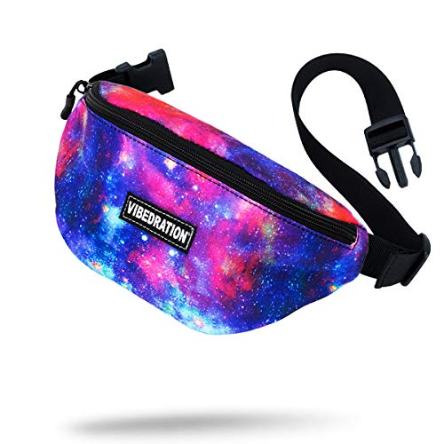 2ee4f891c Vibedration Rave Fanny Pack | Waist Bag Perfect for Music Festivals, Hikes,  Tailgates &