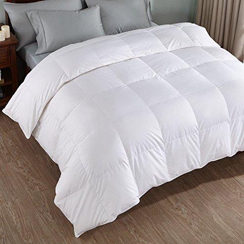 Premium Collection Baffle Box Stitched Design White Goose Down Alternative Comforter, 233 Thread Count 100% Cotton (King 96 x 108) ()