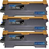 3 New Remanufactured High Yield TN450 Brother TN-450 Toner Cartridge, Office Central