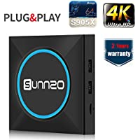 (2017 New Updated) SUNNZO L8 LED Android 6.0 Smart TV BOX/HD 4K Streaming Media Player with Amlogic S905X Quad-Core,1GB RAM+8GB Samsung eMMC,Wifi,H.265,Learning Remote