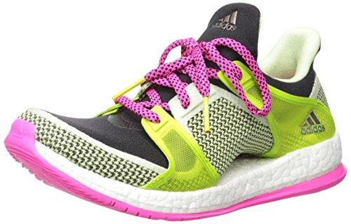 Adidas Pure X Boost Tr W Formación de zapatos, Negro / Gris oscuro / amarillo resplandor de Sun, 6 Black/Shock Pink/Semi Solar Slime